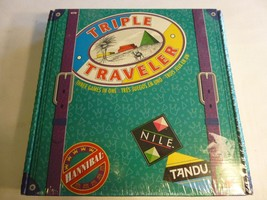 Triple Traveler Game Factory Sealed NEW Nile Tandu Hannibal Discovery Toys - $338,23 MXN