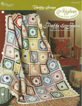 Needlecraft Shop Crochet Pattern 952200 Puffs And Fans Afghan Collectors... - $4.99