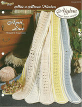 Needlecraft Shop Crochet Pattern 952190 April Lace Afghan Collectors Series - $4.99