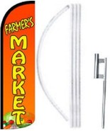 Farmers Market Windless  Swooper Flag With Complete Kit - $62.99
