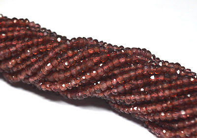 Primary image for 20 STRAND LOT NATURAL MOZAMBIQUE GARNET 3-4MM RONDELLE FACETED LOOSE BEADS 13""
