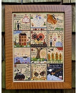 A Year At Hawk Run Hollow cross stitch chart Carriage House Samplings - $28.80