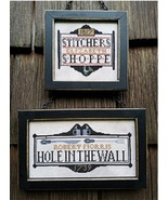 Tavern Signs Revisited cross stitch chart Carriage House Samplings - $10.80
