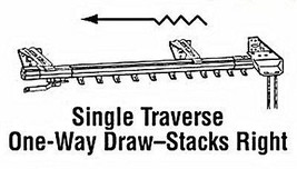 """Superfine Traverse One-Way Right Curtain Rod (100"""" - 180"""" one way draw right) - $73.96"""
