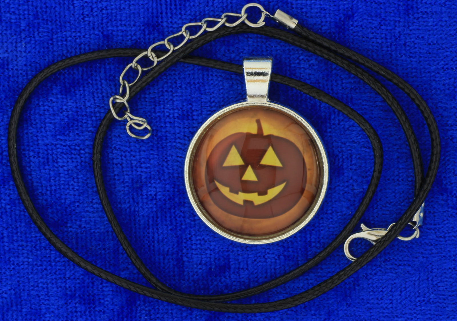 Jack Lantern Pumpkin Necklace or Keychain Halloween Chain Style Length Choice