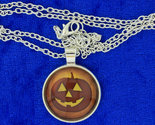 Halloween pumpkin necklace cabochon thumb155 crop