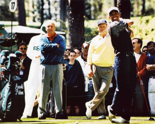 Primary image for Arnold Palmer Jack Nicklaus Tiger Woods GC Vintage 11X14 Color Memorabilia Photo