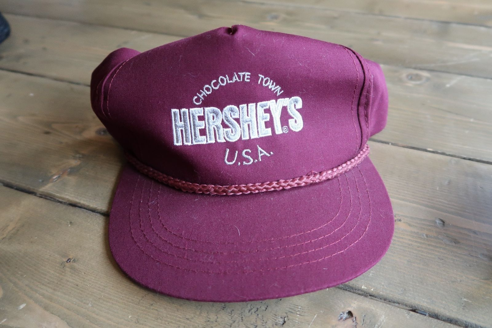 Primary image for Vintage HERSHEYS Chocolate Town USA Hat