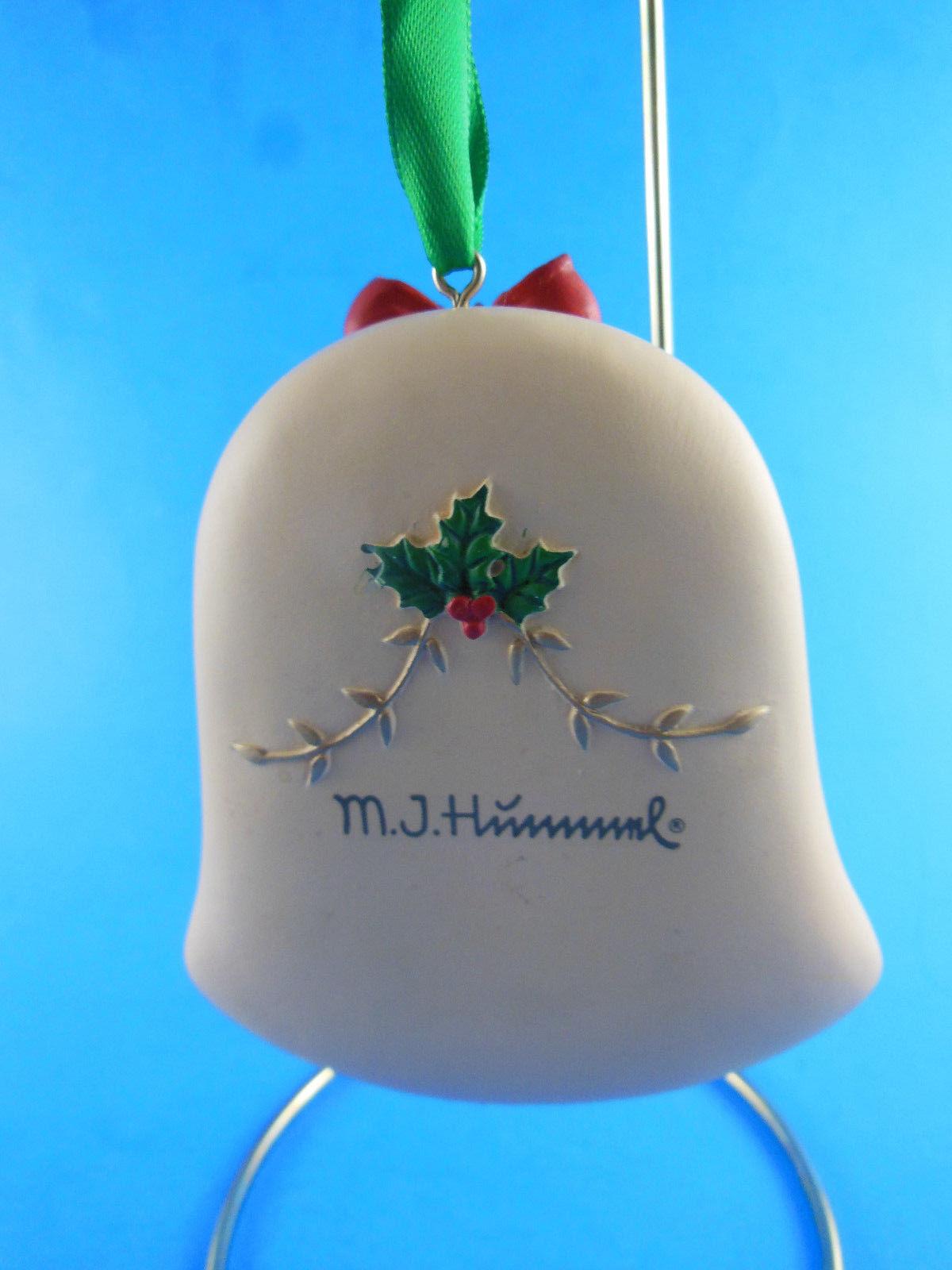 "M.J. Hummel Wonder of Christmas Resin Bell Shaped Ornament 3.5""  Danbury Mint"