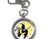 Halloween witch and cat with moon key chain watch thumb155 crop