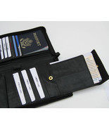Bk PASSPORT Travel Air Ticket Boarding Pass Holder Insert Leather Organi... - $14.65