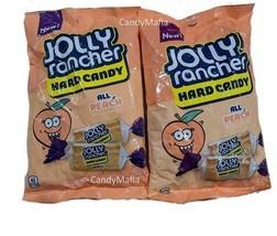 TWO Bags Peach Jolly Ranchers 2 x 7oz Jolly Rancher Peach Hard Candy Fre... - $15.97