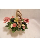 Small Capdimonte Porcelian Basket of Flowers - $9.99