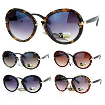 SA106 Designer Fashion Round Butterfly Oversize Sunglasses - $12.95