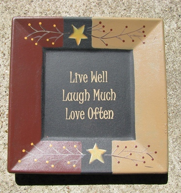 Primary image for   32084L - Live Well Laugh Often Love Much Wood Plate