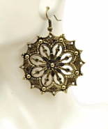 Antiqued Brass Filigree Earrings - $14.90+