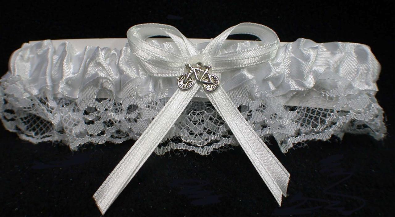 Primary image for Bicycle Trail  Bride Bridal Wedding Garter Toss Funny nature outdoor