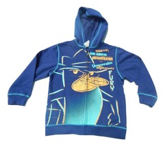 NWT Disney Perry The Platypus Blue Hoodie Boys Size Small 5/6 Zip up - $18.99