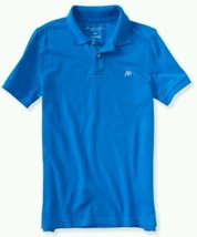 New Men's Aeropostale A87 Solid Logo Piqué Polo, Light Blue, Large, NWT - $9.89