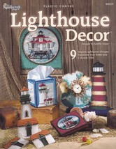 Lighthouse Decor, Plastic Canvas Pattern Booklet TNS 845519 Clock Magnet... - $7.95