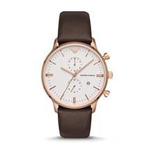 Emporio Armani Men's Brown Leather Watch AR1936 - $198.07