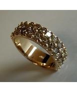 Chocolate diamond double row 18K rose gold band... - $2,950.00