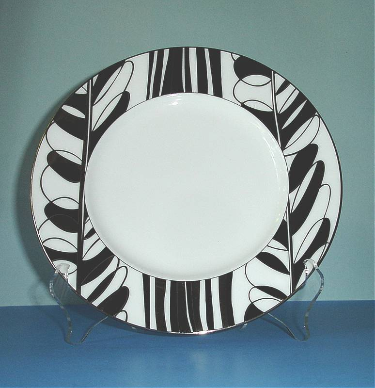 Primary image for Kate Spade Lenox Oleander Avenue Black Accent Luncheon Plate