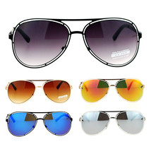 SA106 Unique Mens Futuristic Metal Aviator Sunglasses - $12.95