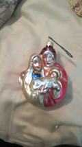 hand blown mercury glass Christmas ornament MAR... - $12.86