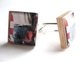 Bruce Springsteen Cufflinks~Born in the USA cufflinks handmade by Dandan... - $12.87