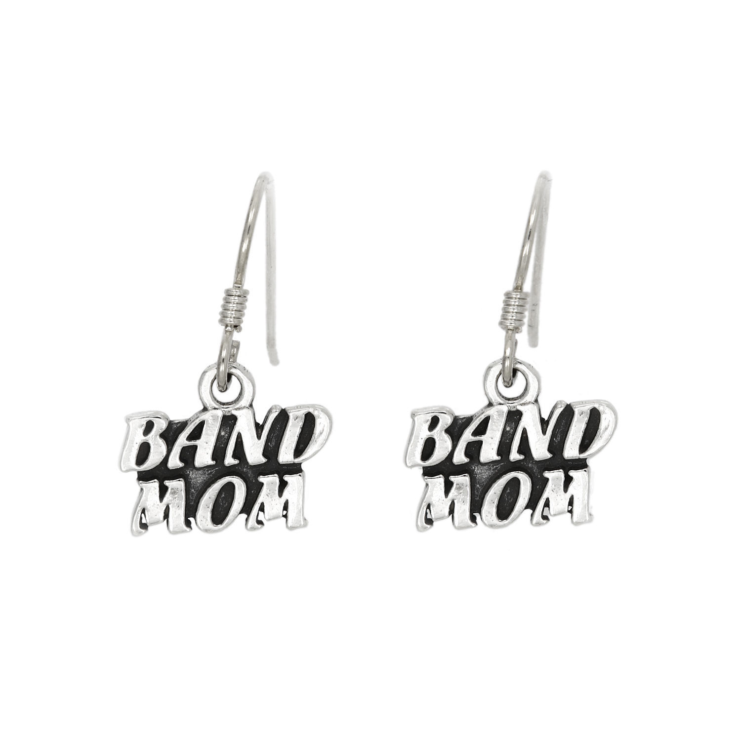 Primary image for STERLING SILVER BAND MOM EARRINGS