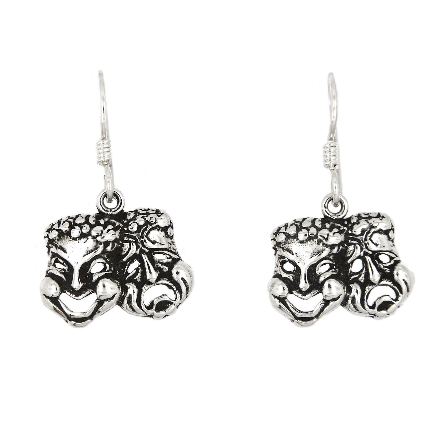 Primary image for STERLING SILVER COMEDY TRAGEDY MASK EARRINGS