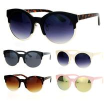 SA106 Womens Half Horn Rim Retro Hipster Sunglasses - £9.29 GBP