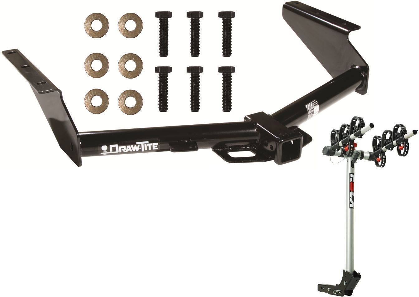 Primary image for 2008-12 JEEP LIBERTY TRAILER HITCH + COMPLETE ROLA 3-BIKE RACK CARRIER PACKAGE