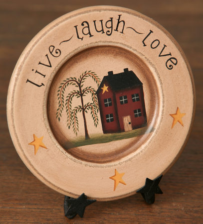 Primary image for  8W1161-Live Laugh Love Mini Plate  Wood