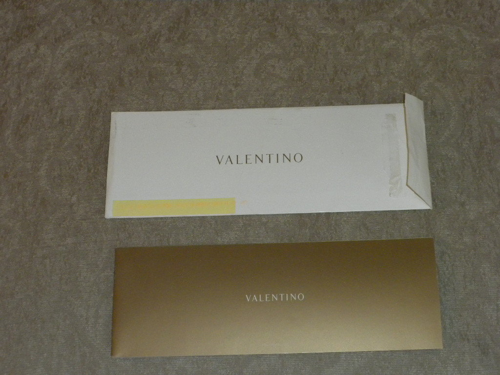 Valentino pre-spring 2005 promo fashion advertising brochure; great color photos