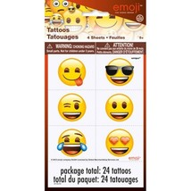 Emoji 24 Tattoos Temporary Birthday Party Favors - $2.65
