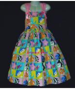 NEW Handmade Disney Finding Nemo/Dory Patchworks Sun Dress Custom Sz 12M... - $59.98