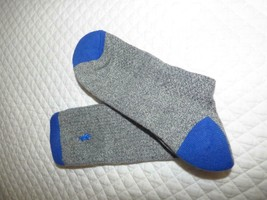 Ralph Lauren Men's Ribbed Cotton Crew socks,1 pair, Gray/ Blue Size 10-13 - $4.60
