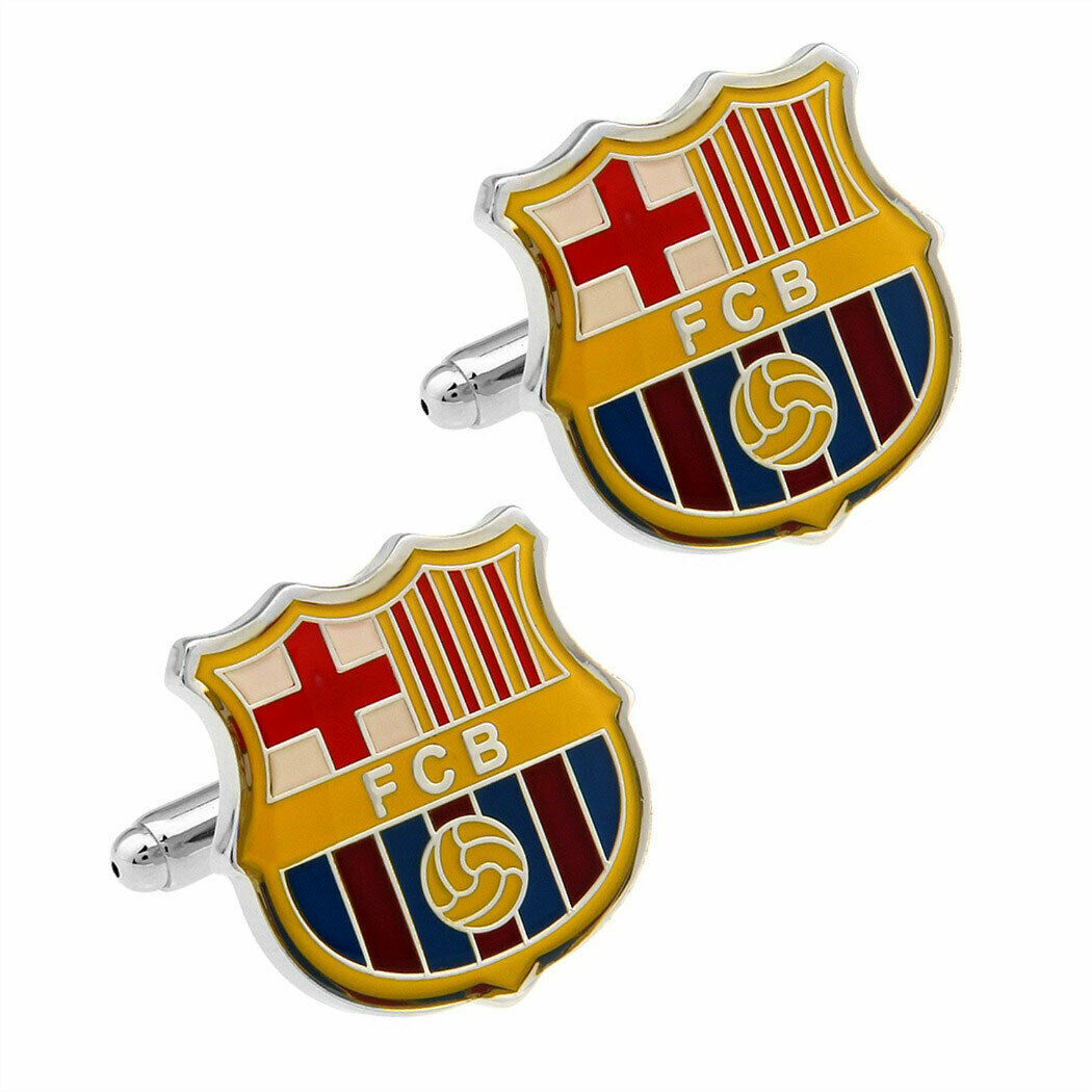 Primary image for FC BARCELONA CUFFLINKS Football Club Sports Fan Team Soccer NEW w GIFT BAG Spain