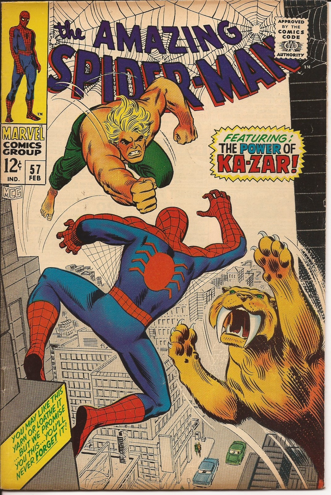 Marvel The Amazing Spider-Man #57 The Power Of Ka-zar Aunt May Peter Parker
