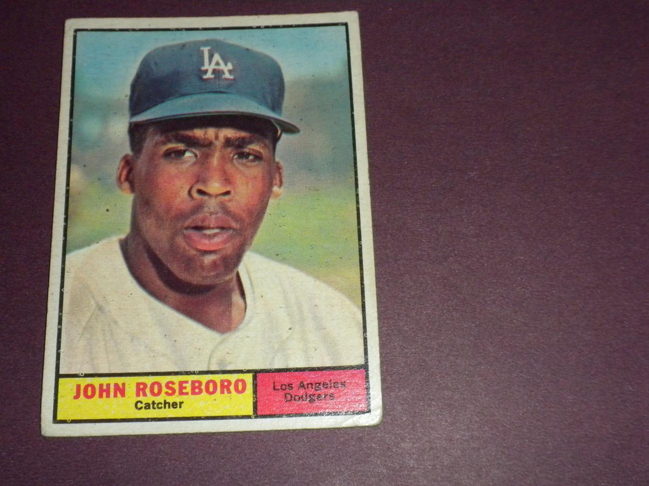 John Roseboro Los Angeles Dodgers 1961 original TOPPS card # 363 VG+
