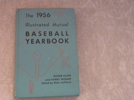 1956 Illustrated Baseball Yearbook by Roger Kahn & Harry Wismer 1st Ed D... - $10.99