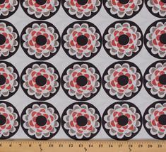 Cotton Ty Pennington Blossom Circles Medallions Flower Fabric Print BTY M709.02 - $8.94