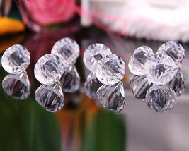 20pcs Clear Acrylic Loose Beads Water Droplets Pendant Charm Wedding Decoration - $6.48