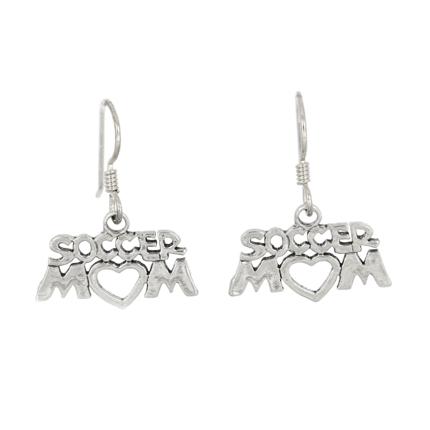 Primary image for STERLING SILVER SOCCER MOM EARRINGS