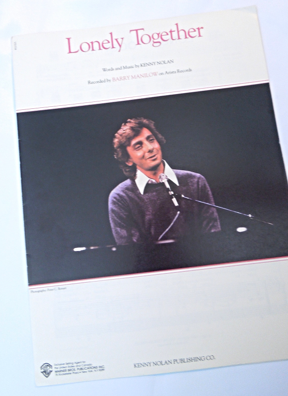 "Primary image for Vintage Sheet Music 1981 ""Lonely Together"" Recorded by Barry Manilow #7633"