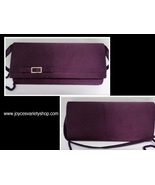 Purple Satin Dual Clutch Crossbody Purse La Regale - $16.99