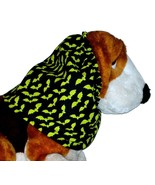 Dog Snood Halloween Black Green Spooky Bats Cotton by Howlin Hounds Size... - $12.50