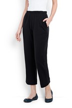 Lands' End Sport Knit Stretch Casual Crop Pants Cotton Small Tall S/T 6-... - $24.74
